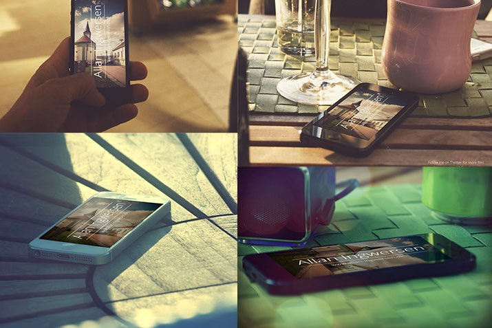 16 Free iPhone Psd Mockups For Your Beautiful Memories Preview