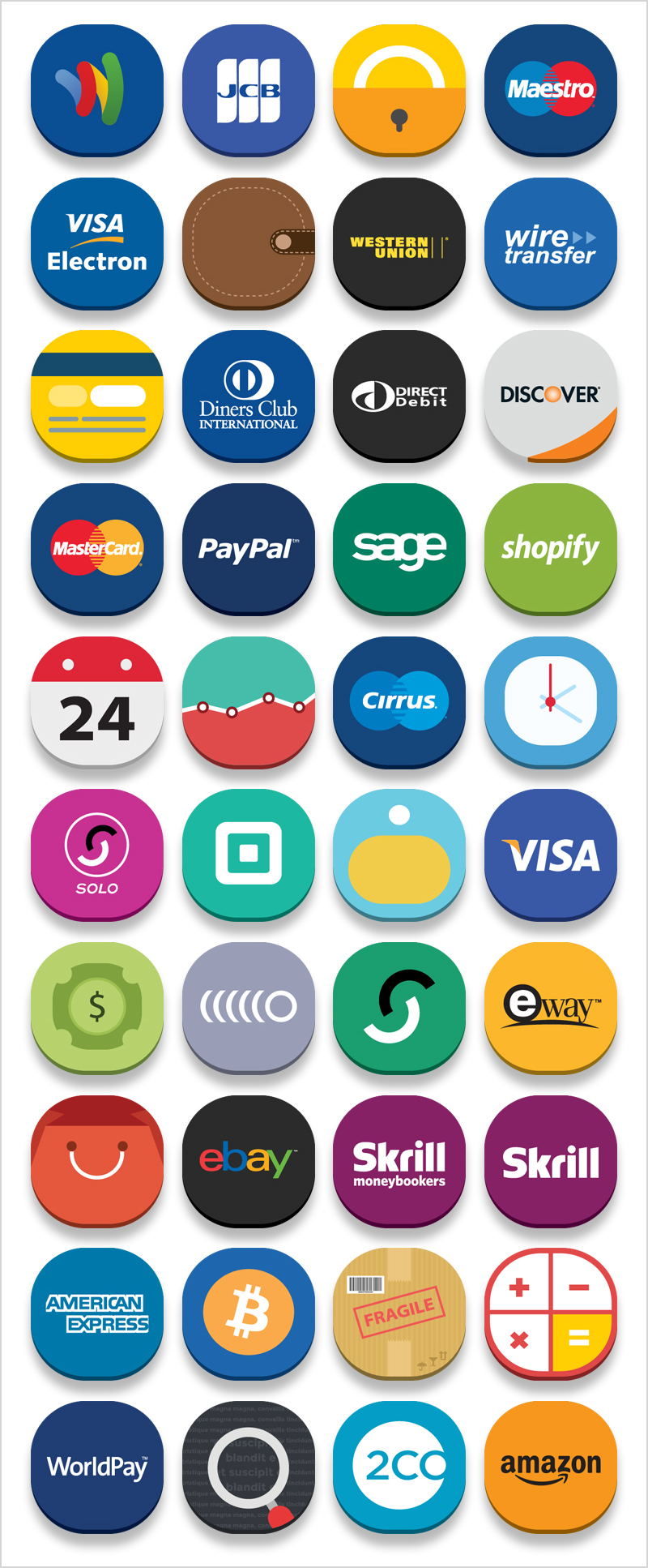 40 Free Online Banks and E-Commerce Icons