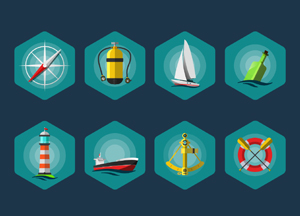 8 Free Sea Icons Set