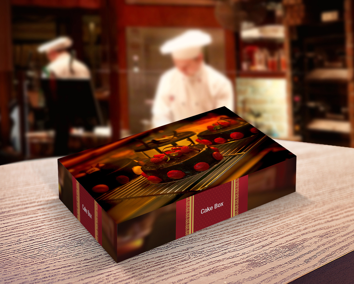 Bakery Box Packaging Mockup
