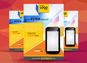 Free A4 Mobile Flyer Template