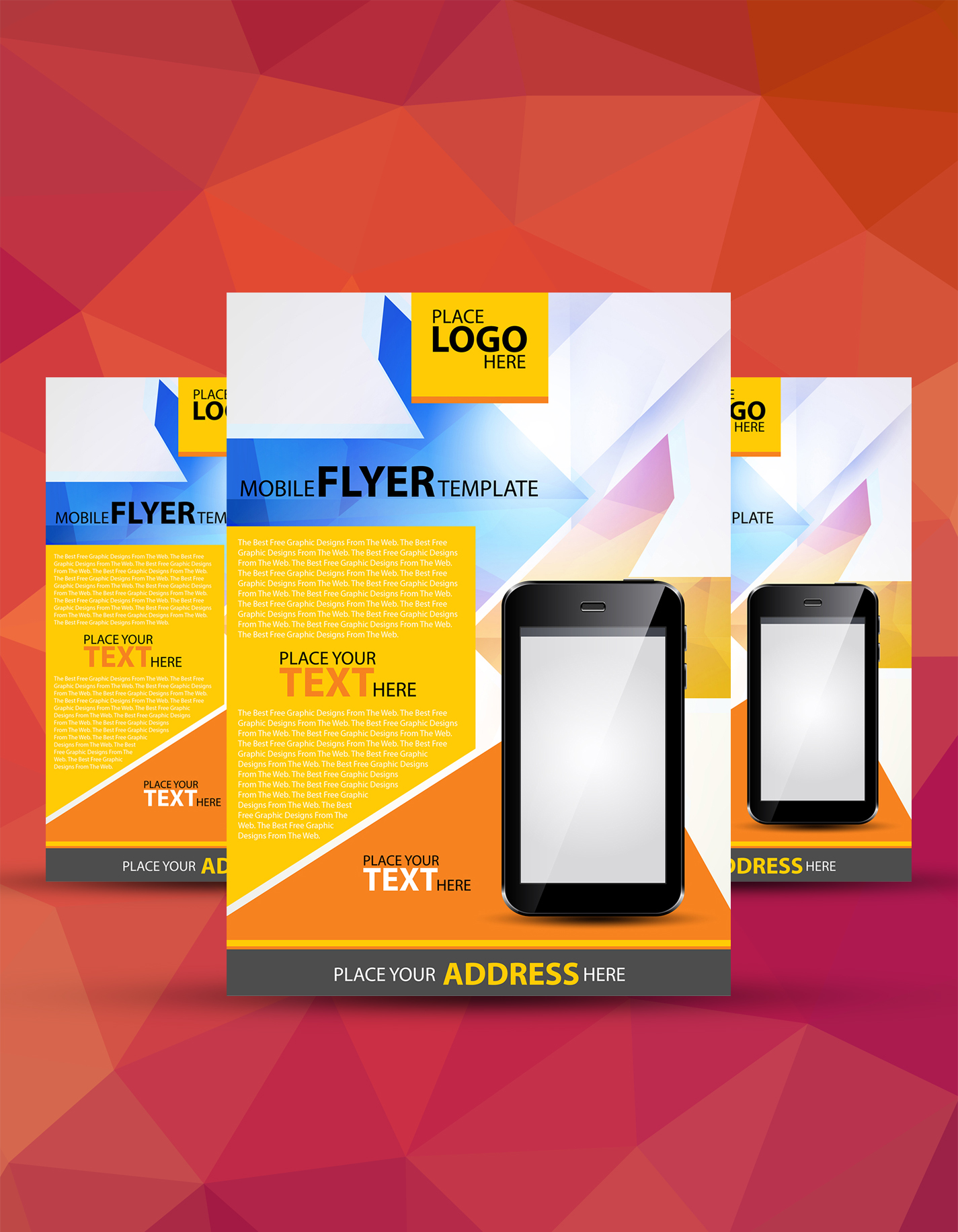 Free A4 Mobile Flyer Template Download