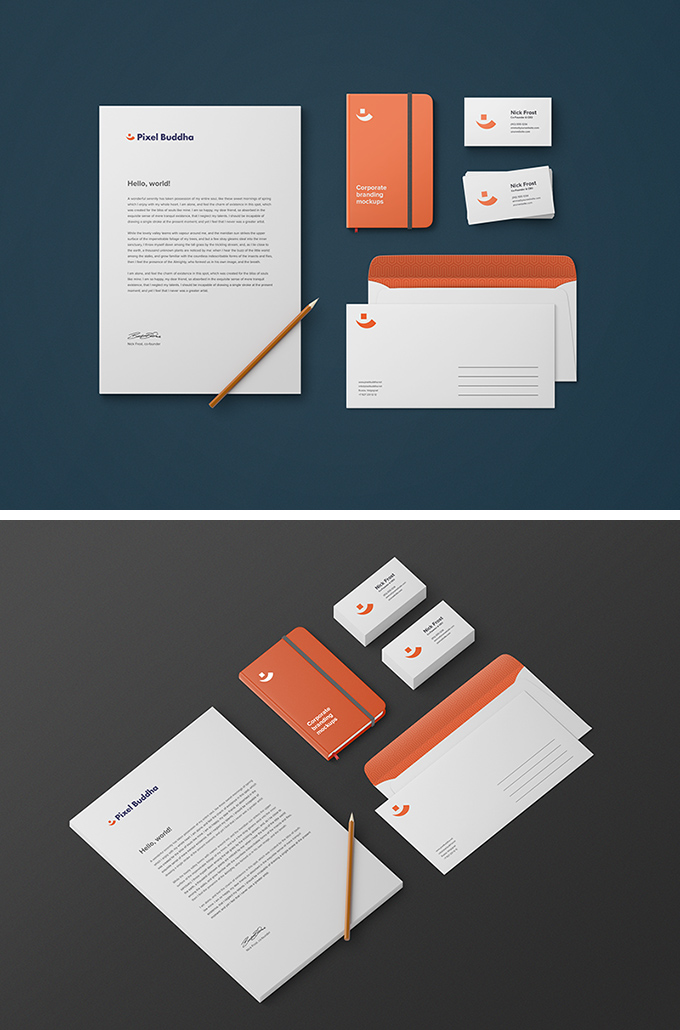 Free Business Identity Branding Mockup Preview