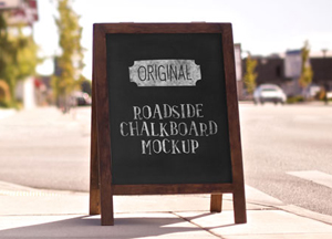 Free Outdoor Chalkboard Mockup For Advertisement
