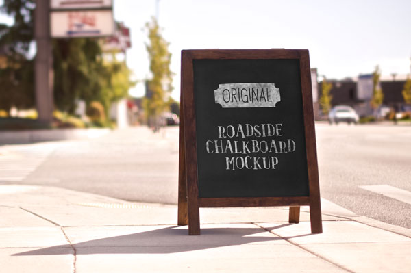 Free Outdoor Chalkboard Mockup For Advertisement Preview Image