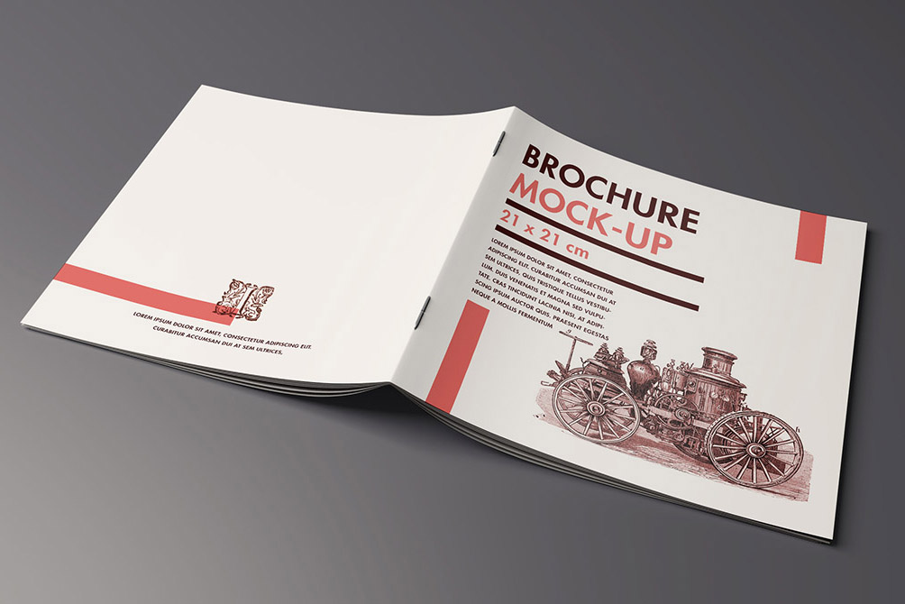 Free Title and Inside Brochure Mockup