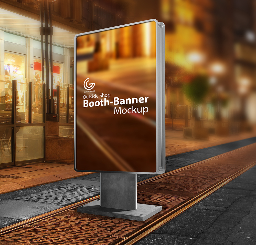 Outside Shop Booth-Banner Mockup