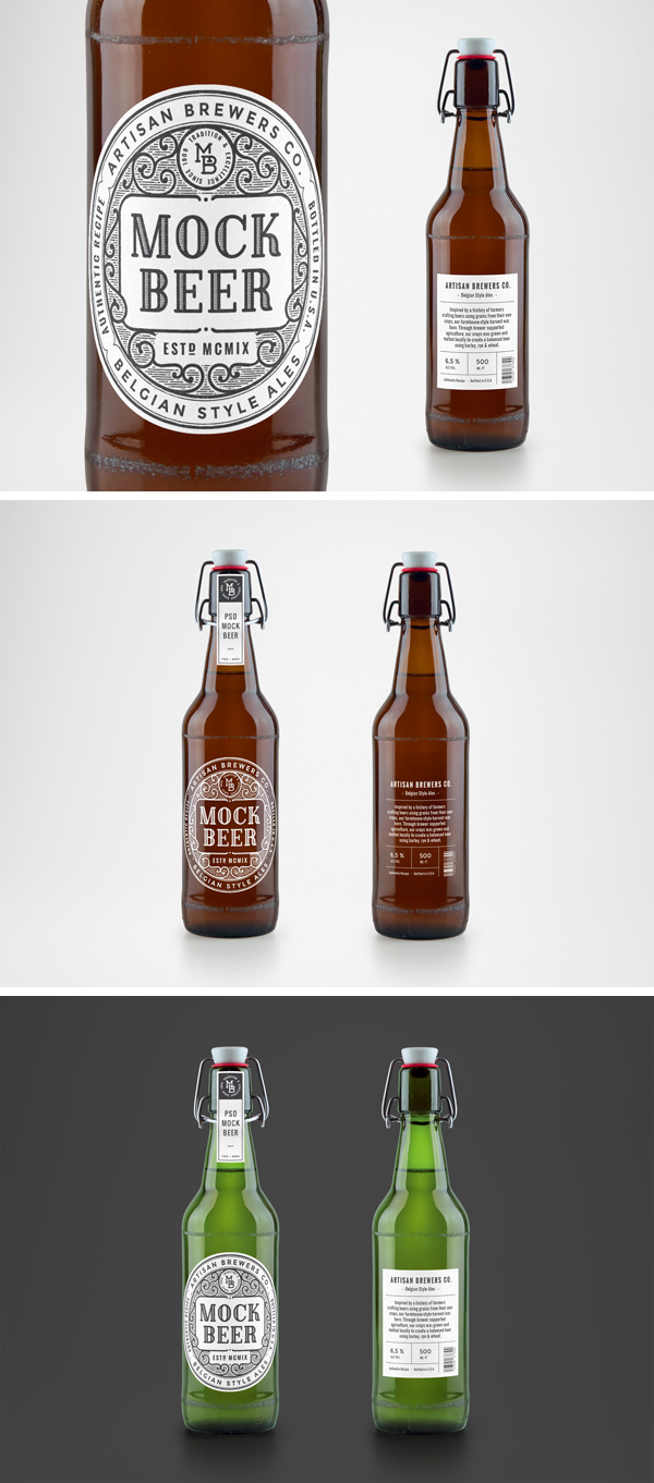 Photorealistic-Beer-Bottle-MockUp-preview image