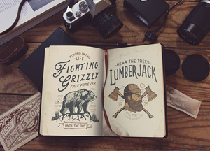 Free Vintage Book Mockup For You Vintage Designs Collection