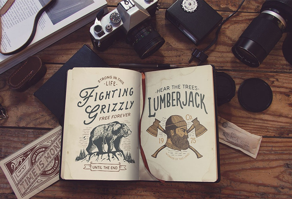 Vintage Book Mockup For You Vintage Designs Collection