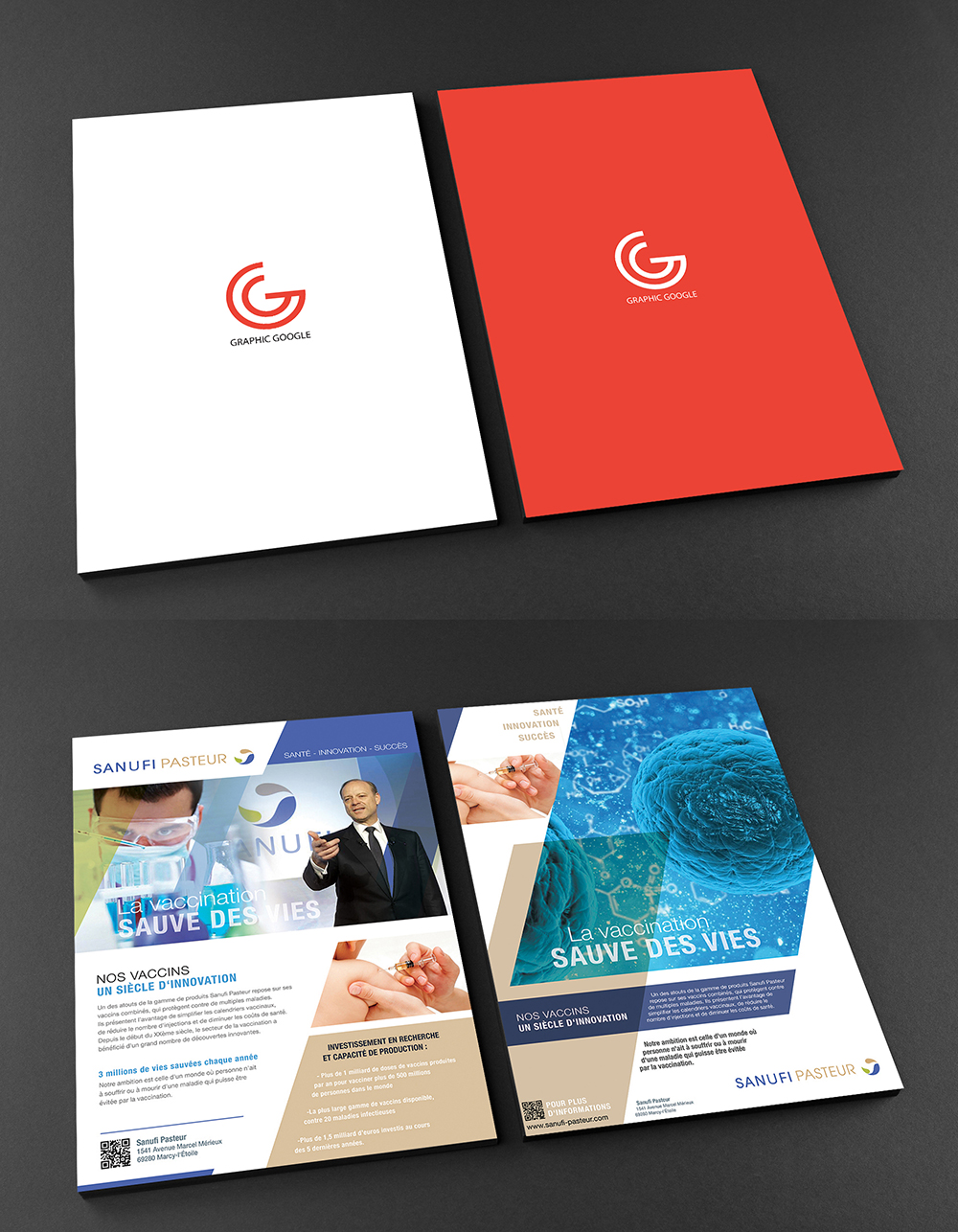 Free A4 Front and Back Flyer Mockup