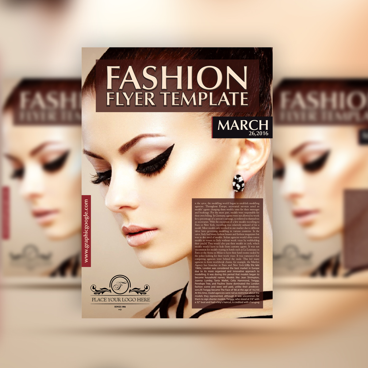 Free Fashion Flyer Template Graphic Google Tasty Graphic Designs