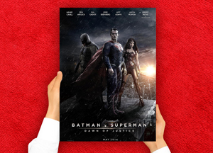 Free Man Holding Red Carpet Movies Poster Mockup