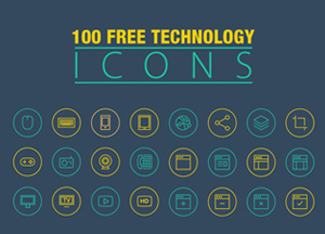 100 Free Technology Icons