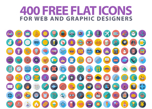 400 Free Flat Icons For Web and Graphic Designers