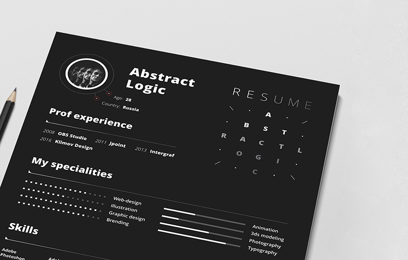 Free Abstract Resume Template For Designers-2