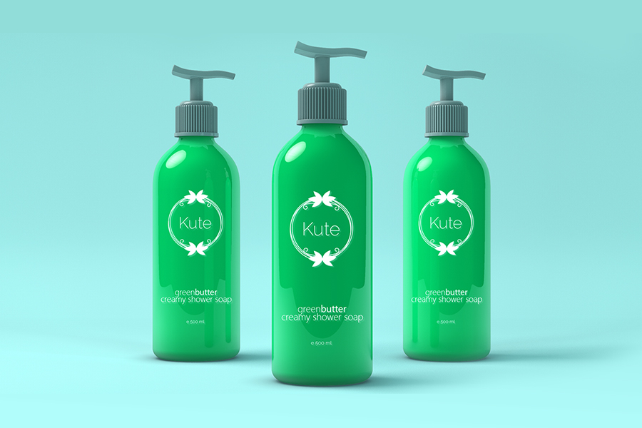 Free Cosmetic Dispensers Bottles Mockup