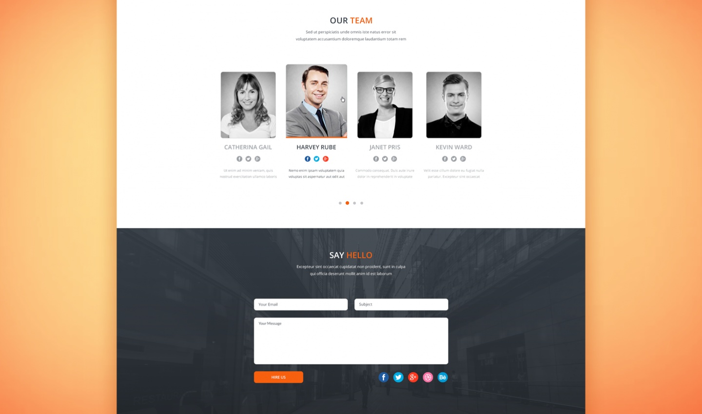 Tanatos Free PSD Template Preview (3)