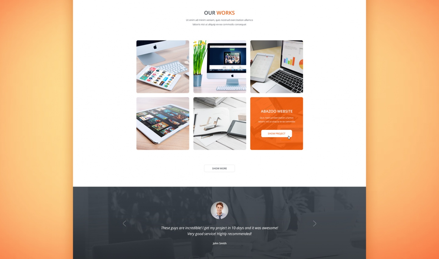 Tanatos Free PSD Template Preview (4)