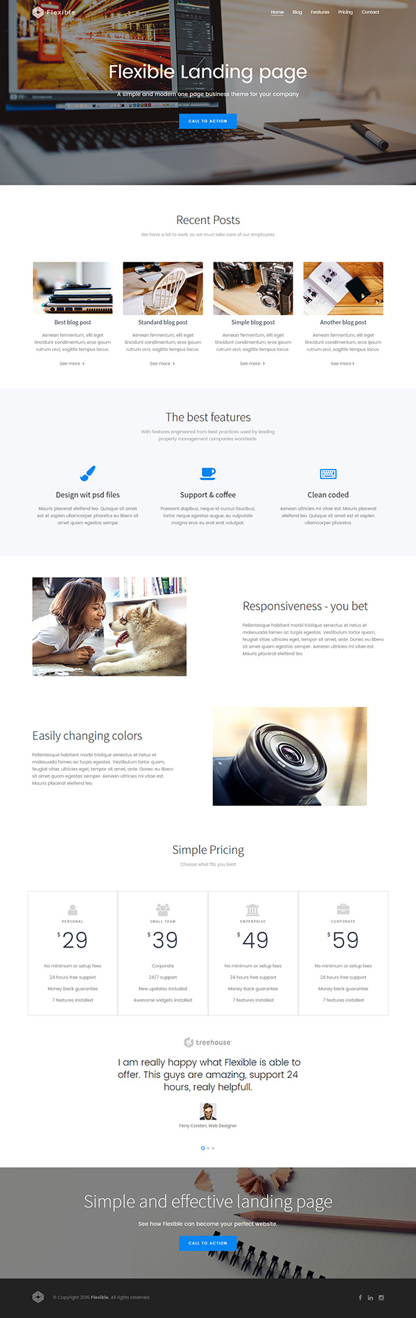 Free Flexible Bootstrap Theme