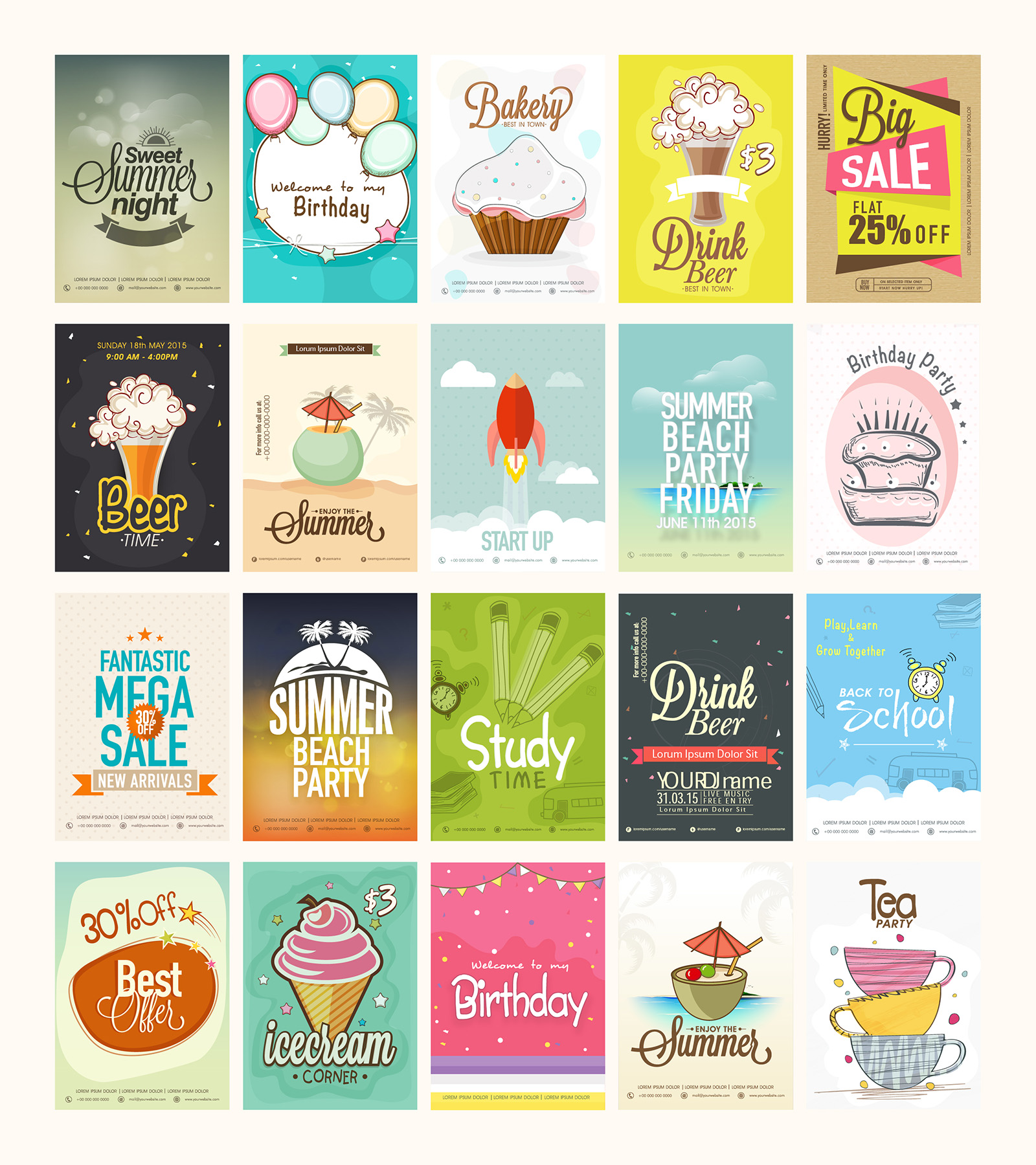 20 free printable flyers collection graphic google tasty graphic