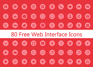 80 Free Web Interface Icons