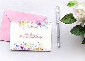 Free Elegant Invitation Card Mockup