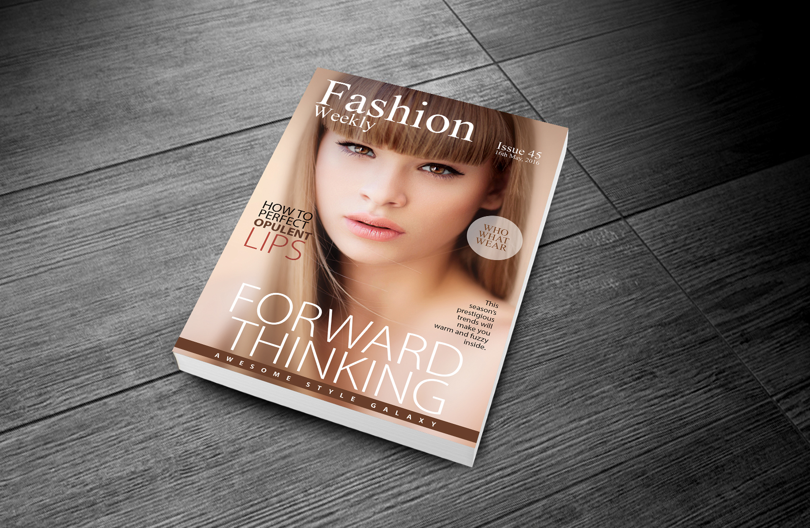 Free Fashion Magazine Template Design