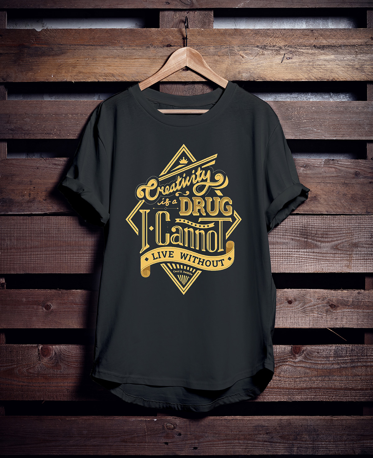 Black t shirt mock up - Free Hanging T Shirt Mockup