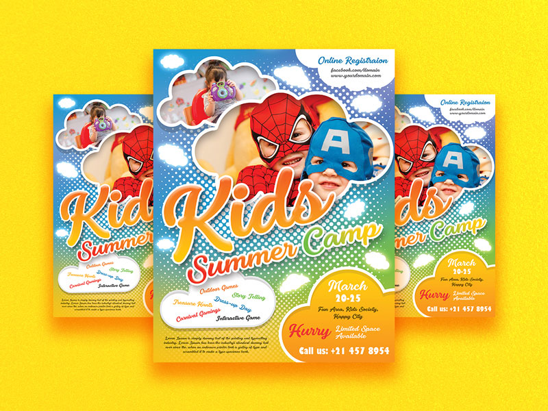 Free-Kids-Camp-Flyer-Template