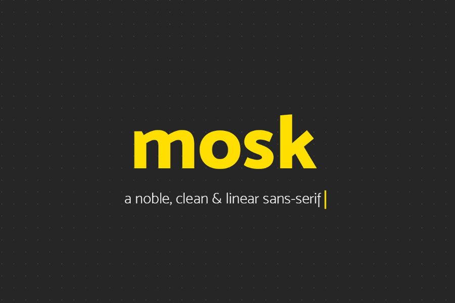 Free Mosk Clean and Linear Sans Serif Font-1