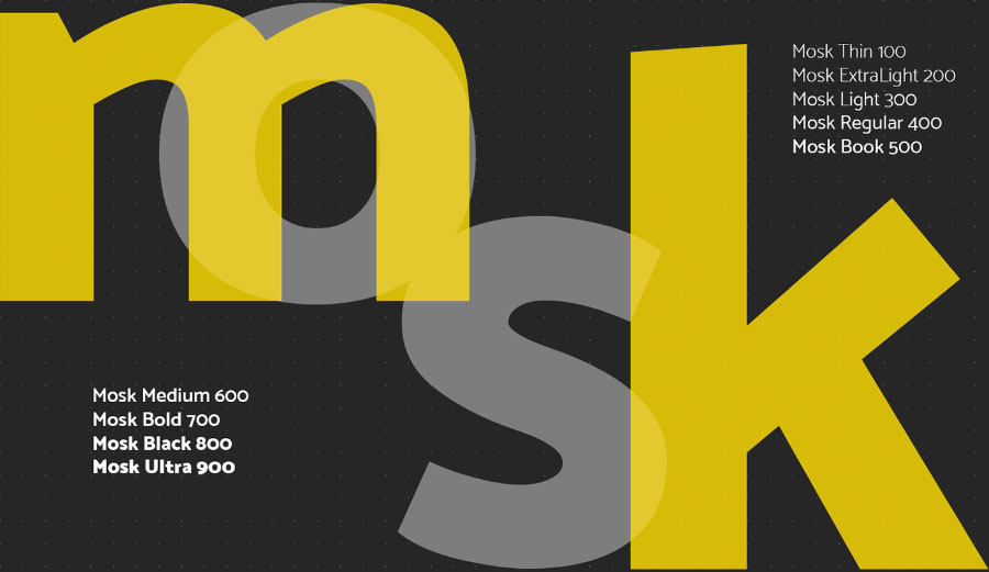 Free Mosk Clean and Linear Sans Serif Font-3