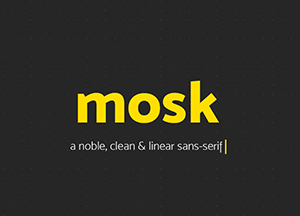 Free Mosk Clean and Linear Sans Serif Font