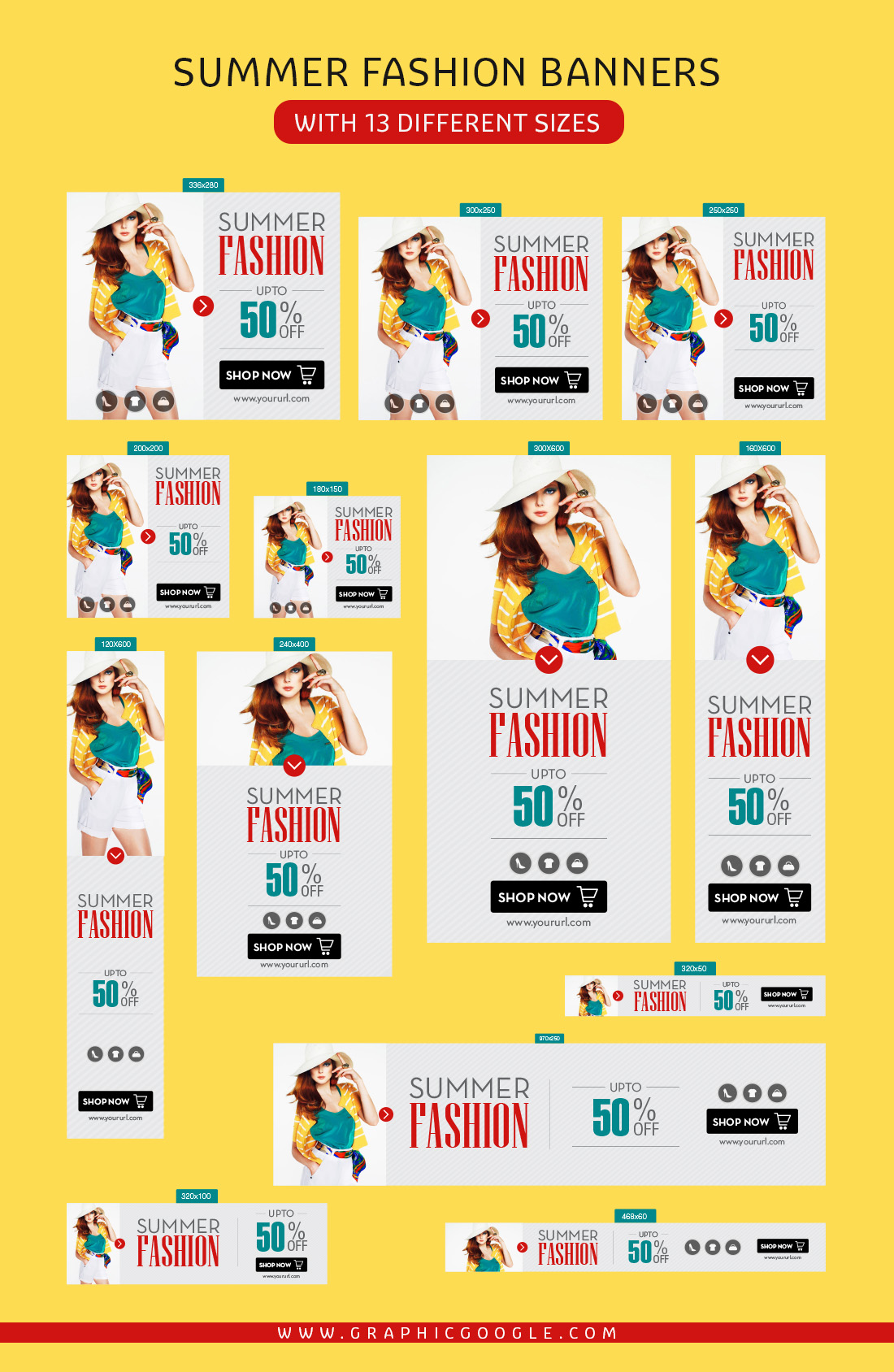 Free Summer Fashion Banners with 13 Different Sizes-1