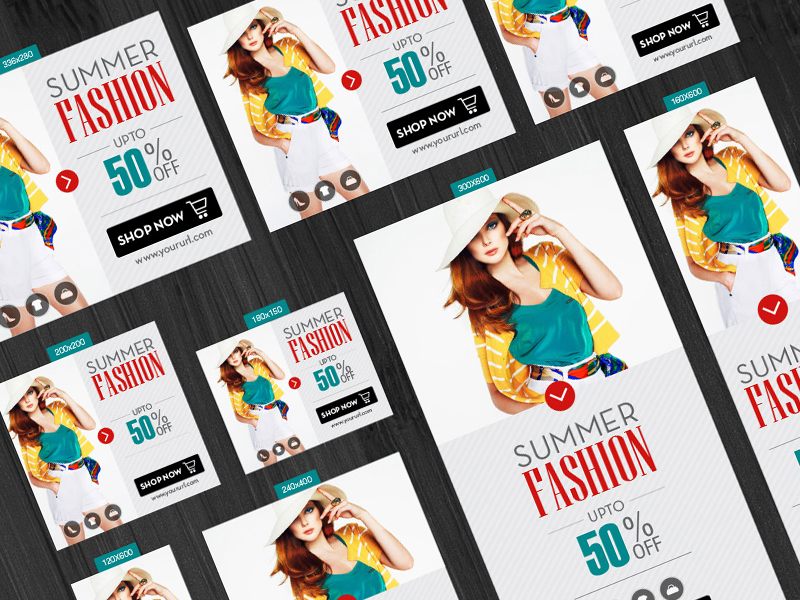 Free Summer Fashion Banners with 13 Different Sizes-300