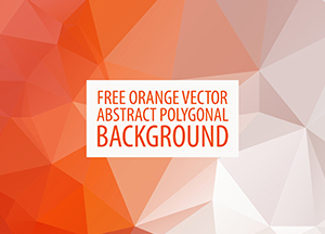 Orange Vector Abstract Polygonal Background