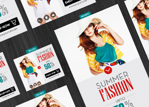 Free Summer Fashion Banners with 13 Different Sizes