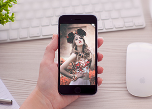 Women Holding iPhone 6 Mockup