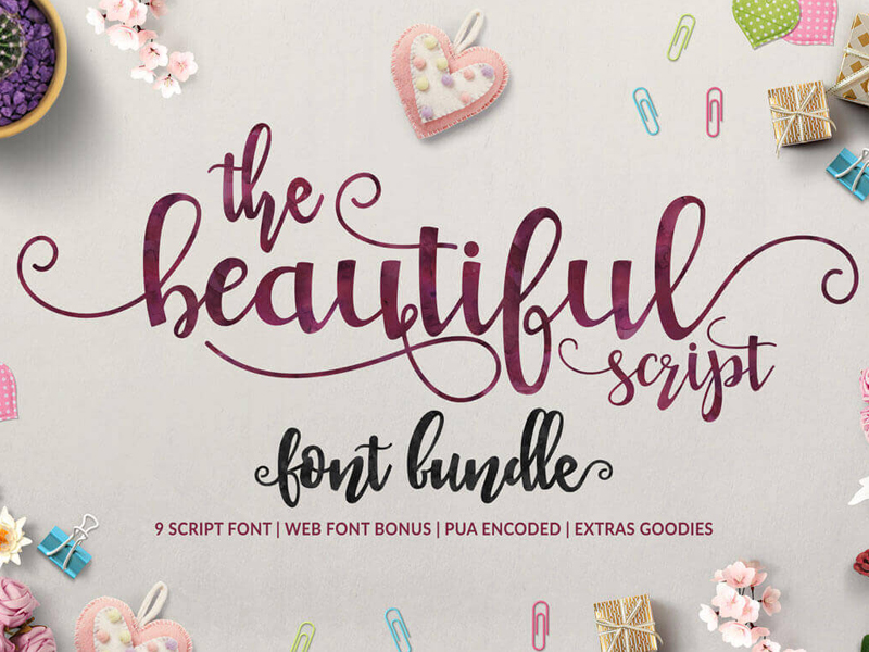 9 Beautiful and Elegant Handwritten Script Fonts-300