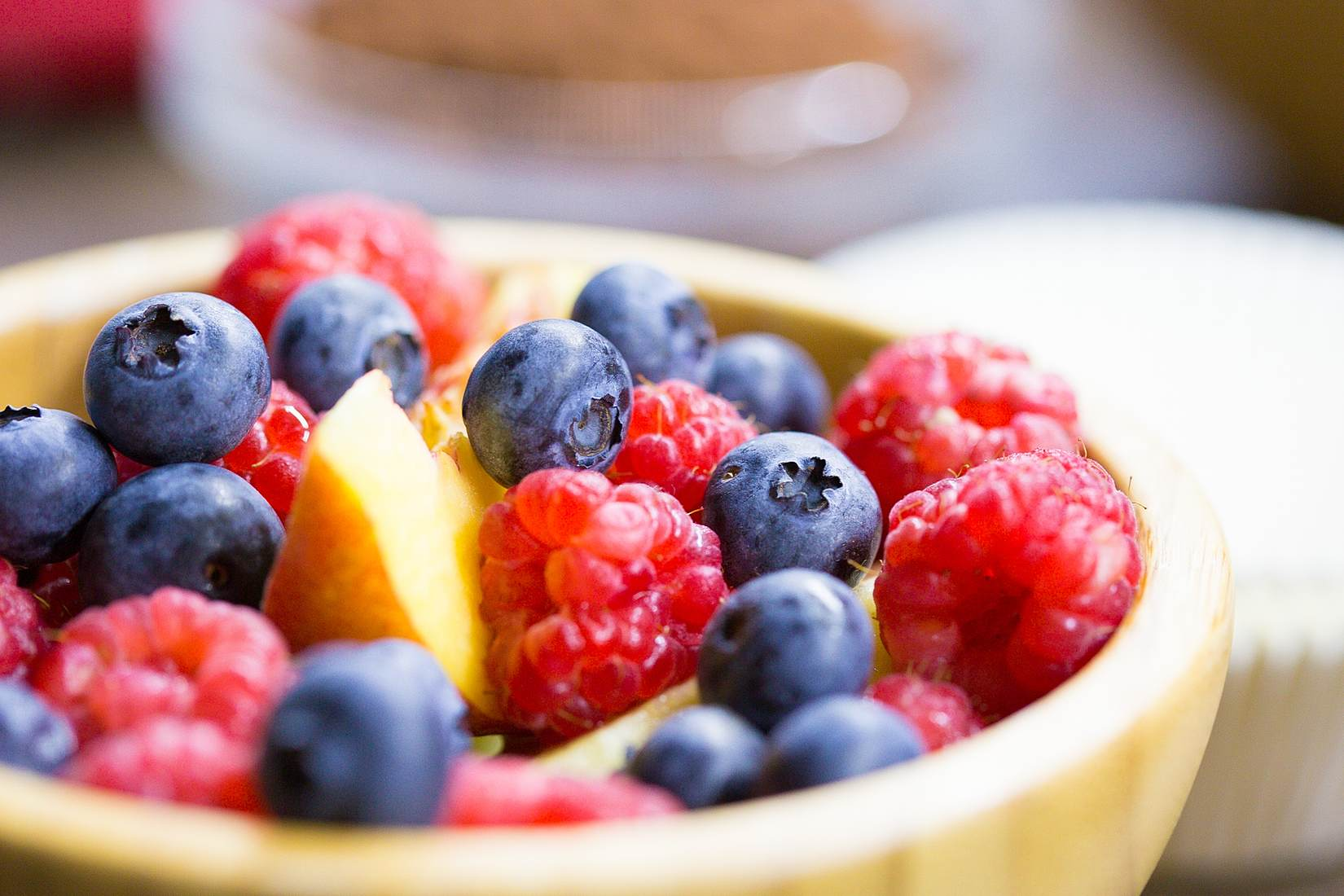 Bowl Full of Healthy Fruits Stock Photo