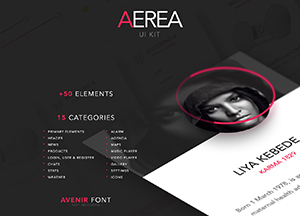Free AEREA UI-UX Kit with Plus 50 Elements