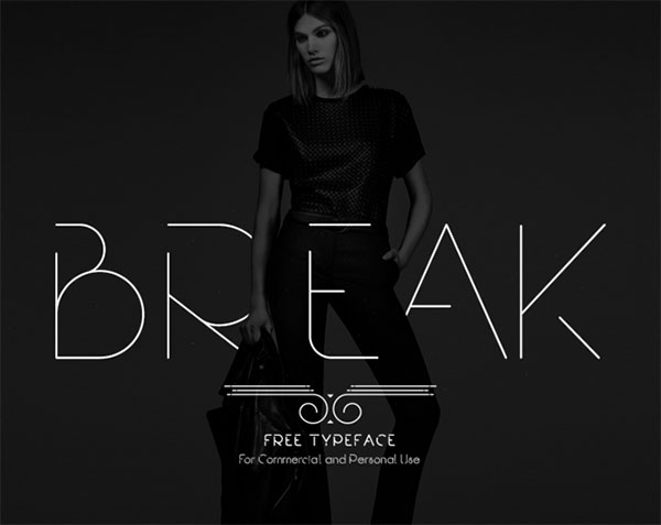 Free Break Thin Sans Serif Font