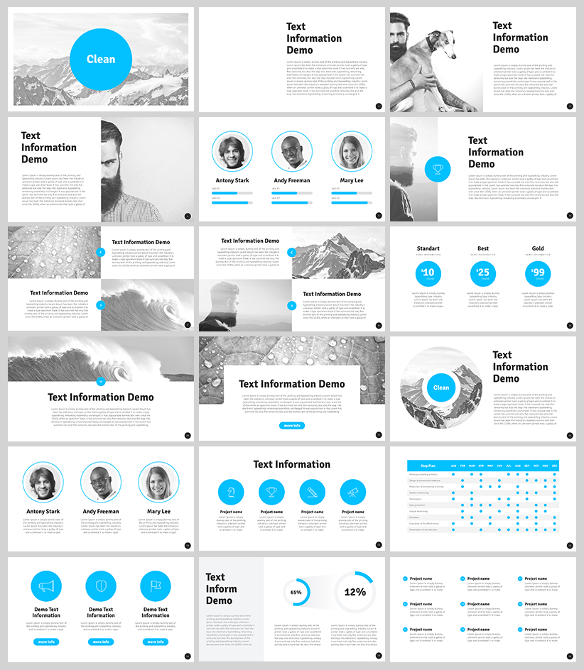Free clean powerpoint template for designers with 18 slides free clean powerpoint template for designers with 18 slides toneelgroepblik Gallery