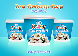 Free Ice Cream Cup Packaging Mockup
