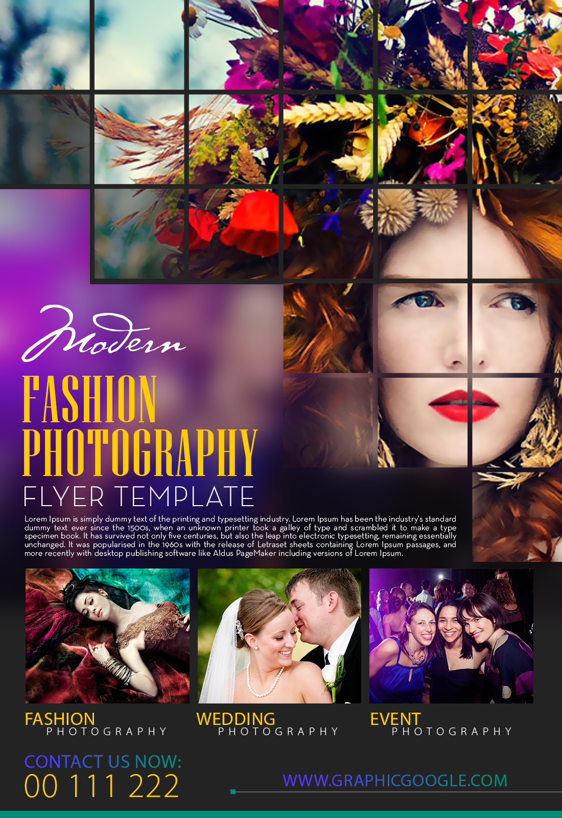 Free Modern Fashion Photography Flyer Template-2