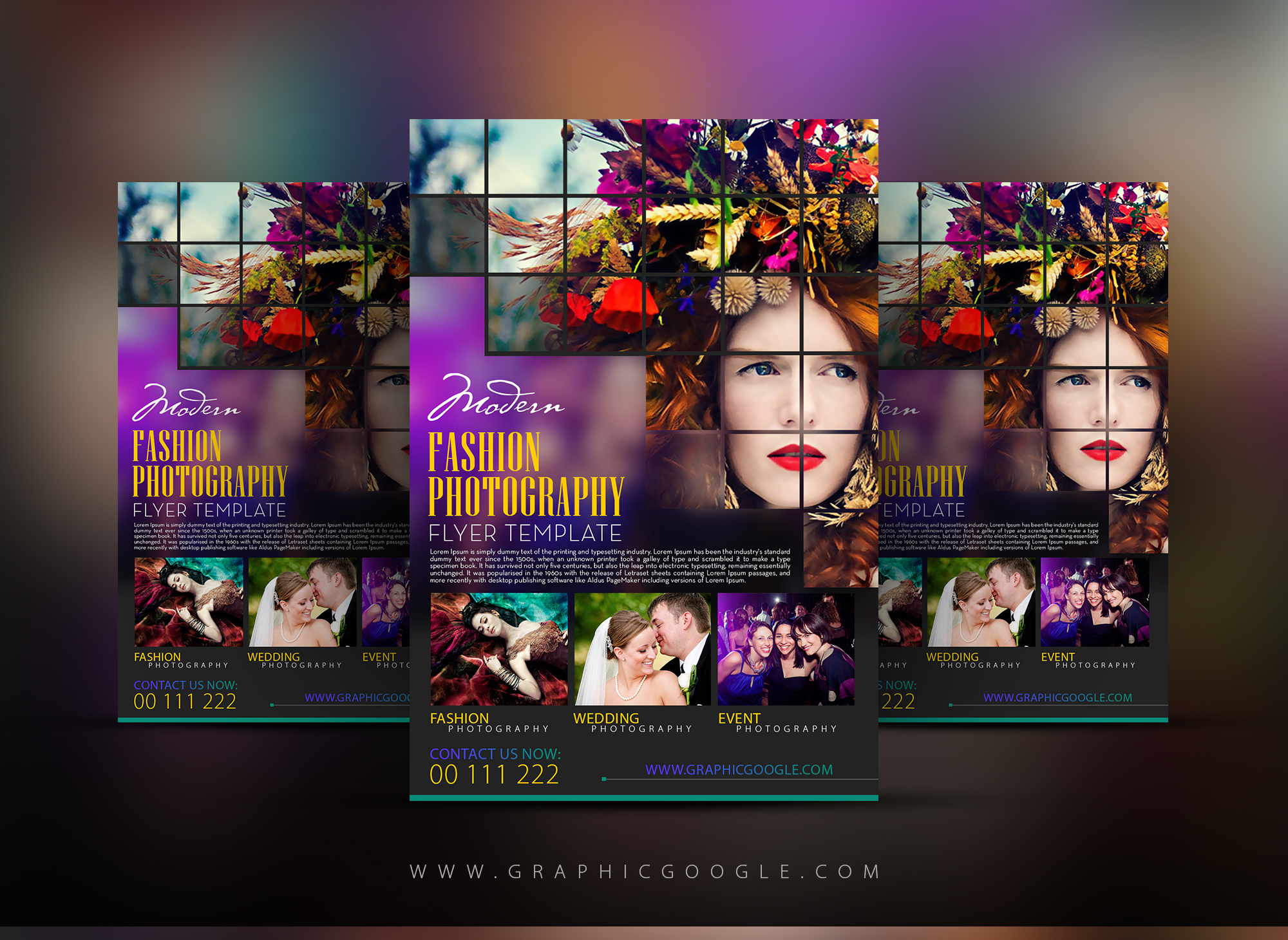 Free Modern Fashion Photography Flyer Template-300