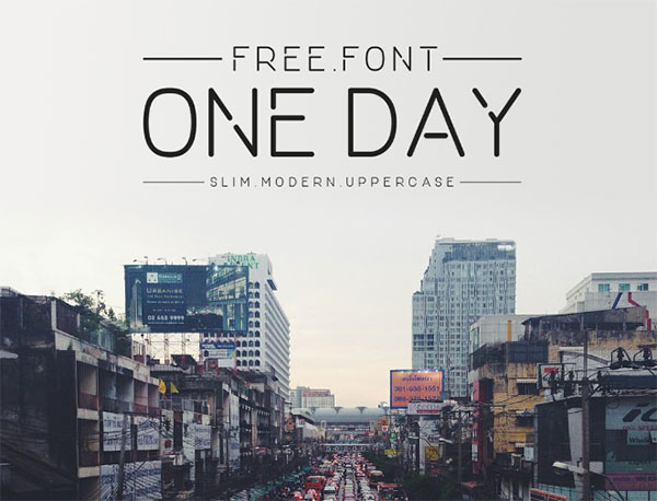 Free One Day Sleek Font