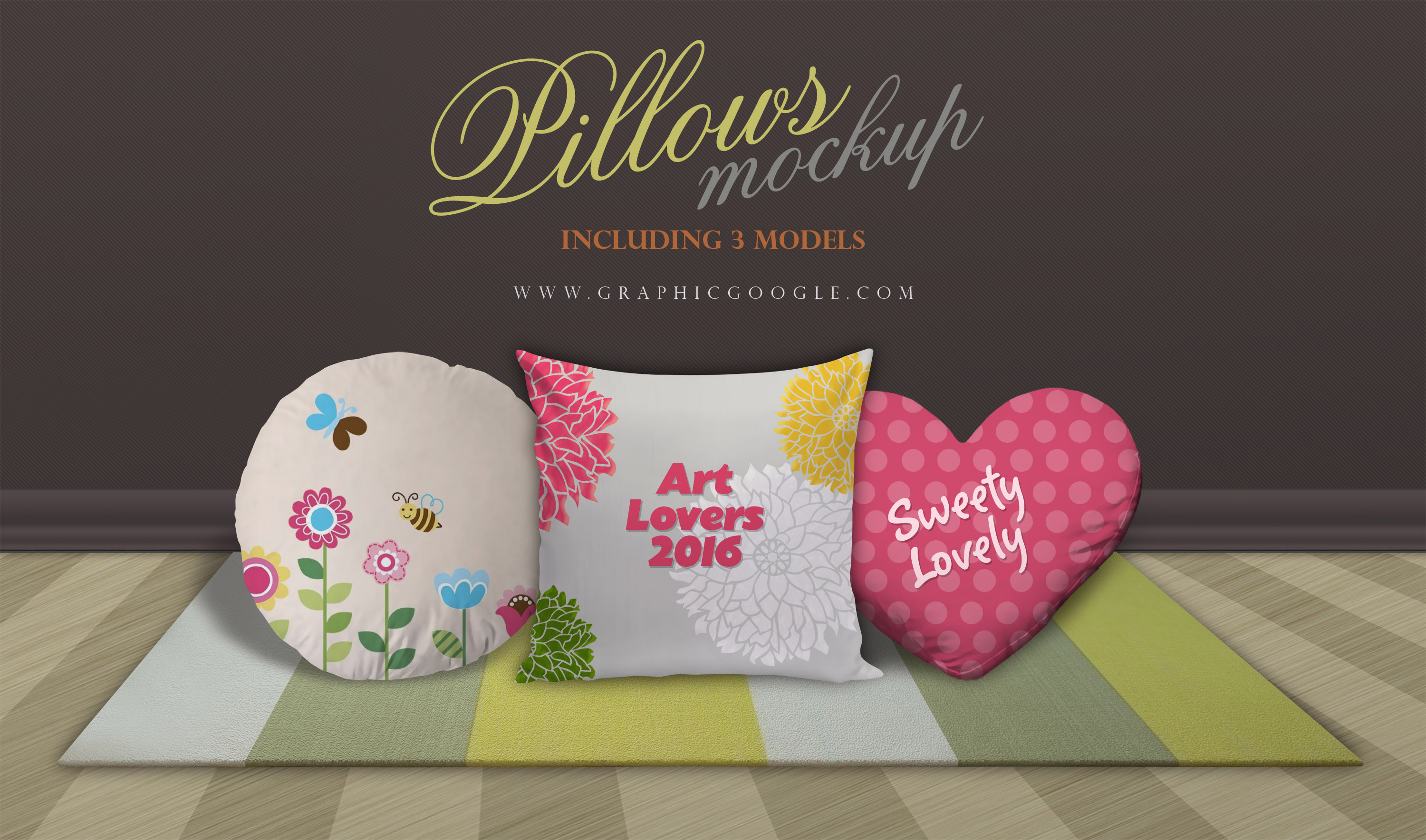 Pillows Mockup with 3 Models-300