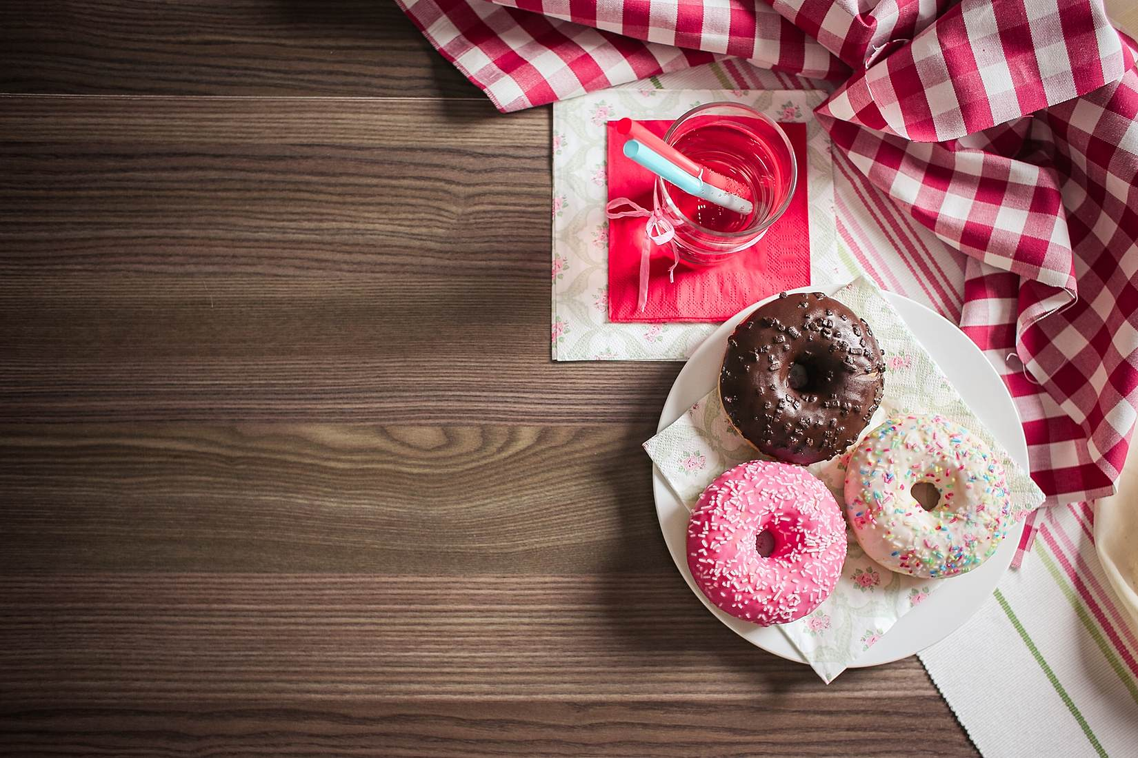 Sweet & Colorful Donuts Stock Photo