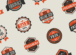 10 Free Vector Vintage Badges
